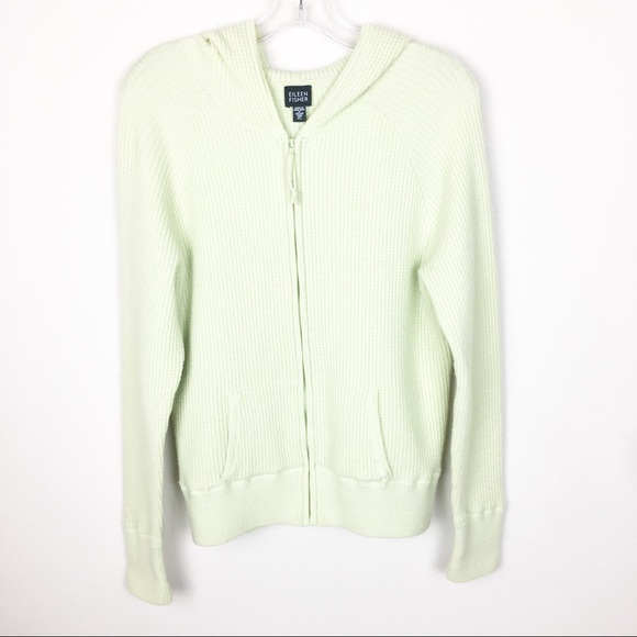 Eileen Fisher Jackets & Blazers - Eileen Fisher XL Green Full Zip Hood Jacket